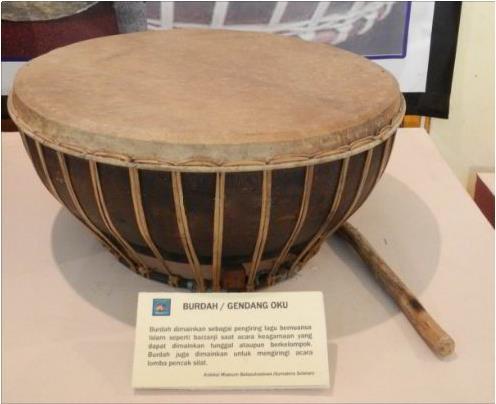 alat musik tradisional burdah gendang oku palembang