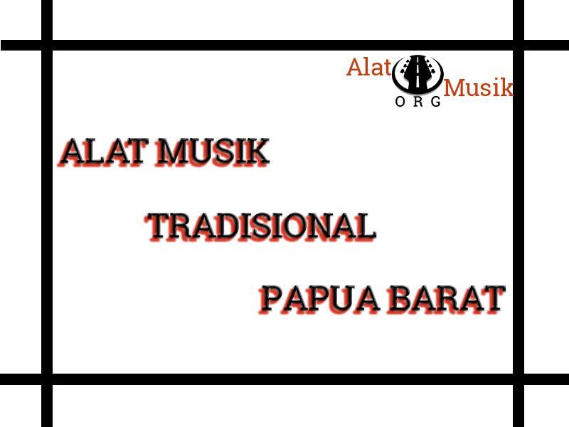 alat musik tradisional papua barat