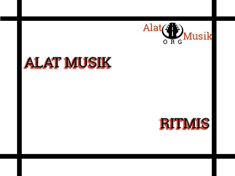 alat musik ritmis adalah