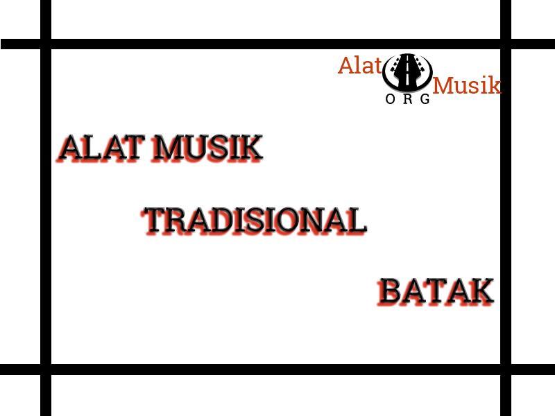 alat musik tradisional batak