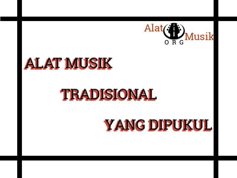 alat musik tradisional yang dipukul